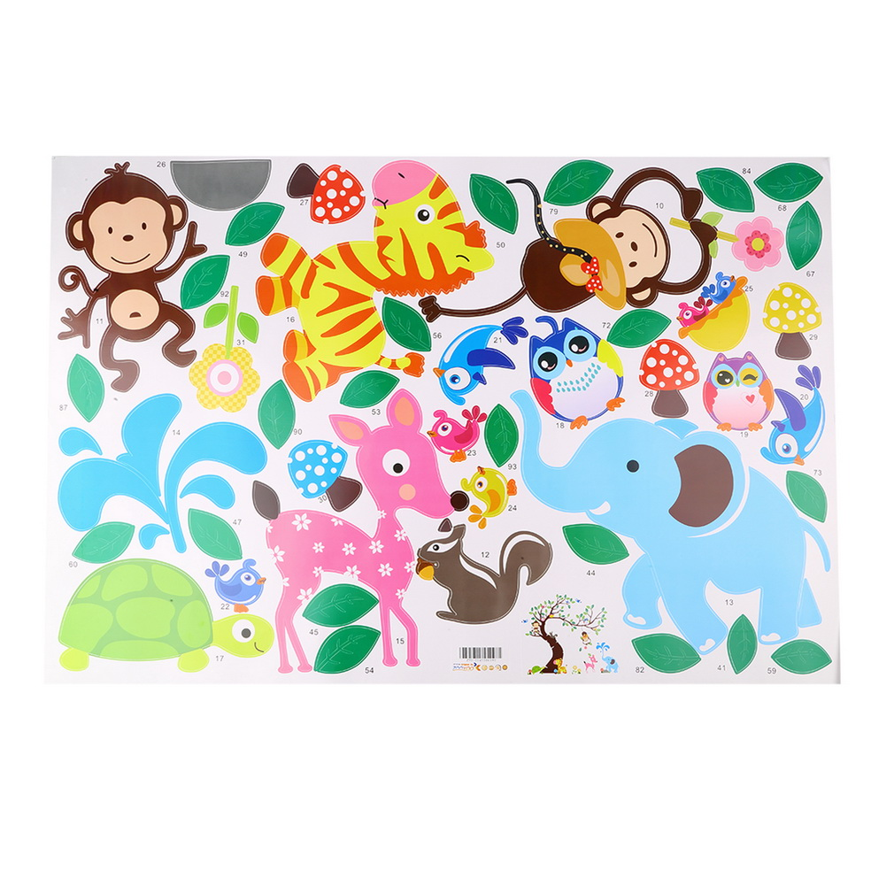 Cute monkey wall sticker zoo original animal wall arts for kids cute monkey wall sticker zoo original animal wall arts for kids room tree wall decal baby room home decoration diy decor in wall stickers from home garden amipublicfo Images