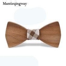 Mantieqingway Детские деловые свадебные костюмы деревянная бабочка галстук твердая деревянная бабочка Gravatas дети мальчики девочки Свадебный галстук-бабочка