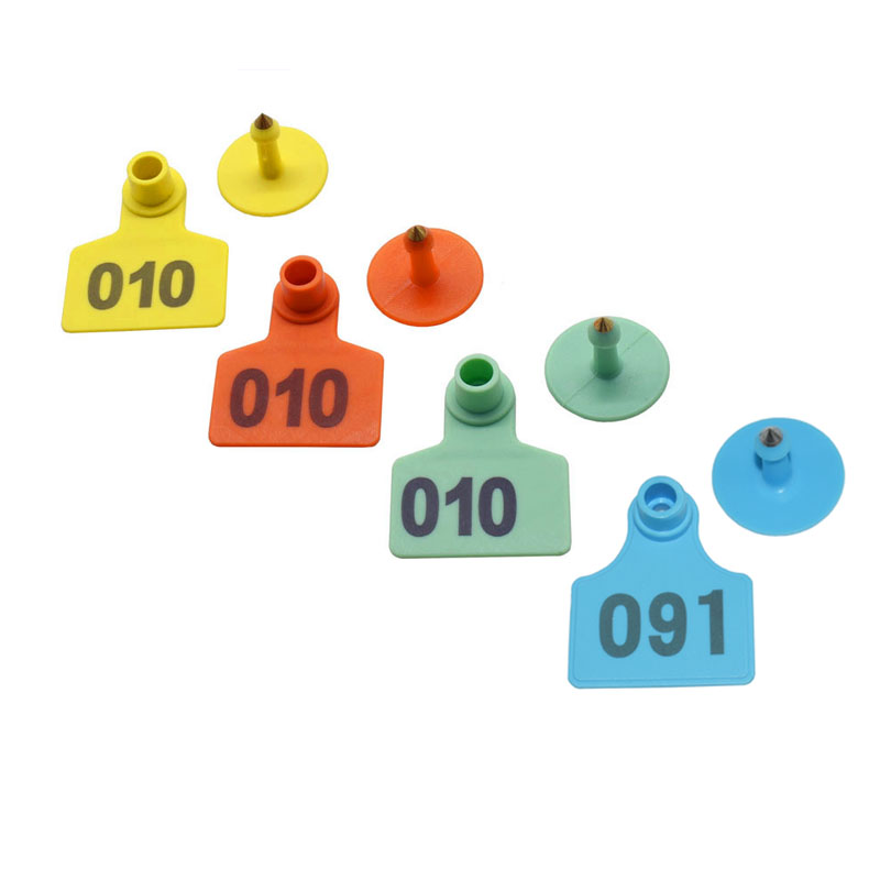 301-400 Green Number Plastic Livestock Ear Tags Animal Tag for Goat Sheep Pigs