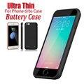 6 S Power Bank Аккумуляторная Зарядка Чехол Для iPhone 6 плюс 6 плюс для iPhone 6 S Plus Силиконовый Чехол Зарядное Экстра Черный роза