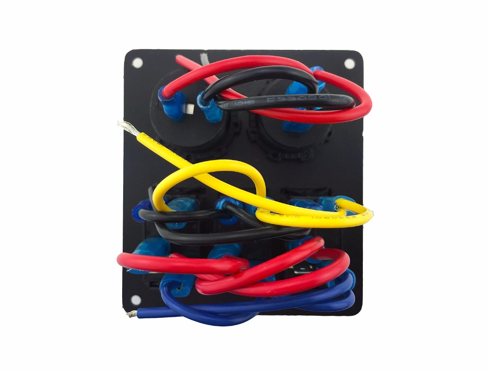 Iztoss blue led 3 gang 5pin rocker switch panel with power socket and 12V Voltmeter wiring 3 gang switch panel wiring diagram wiring diagram simonand 3 gang light switch wiring diagram at cos-gaming.co