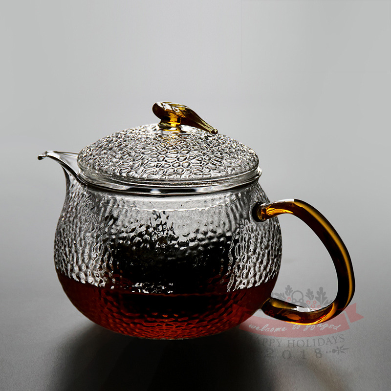 GFHGSD 550ml Cute Clear Heat Resistant Glass Teapot High Quality Transparen TEA POT with Tea infuser in Teapots from Home Garden
