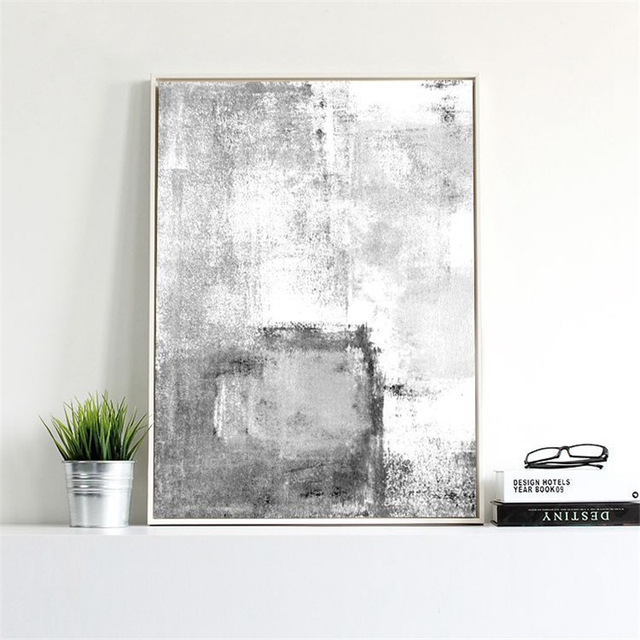 Minimalist Picture Creative picture Black WhIte Canvas handmade oil Painting Abstract Backdrop Wall Art