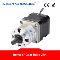 Nema 17 Stepper Motor 27:1 Planetary Gearbox 4 lead 42 Motor Extruder Gear Stepper 1.68A CNC Robot 3D Printer