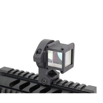 Visor de ángulo táctico 360 rotación para la vista de punto rojo se adapta al montaje del visor del rifle 20mm riel Picatinny negro TAN