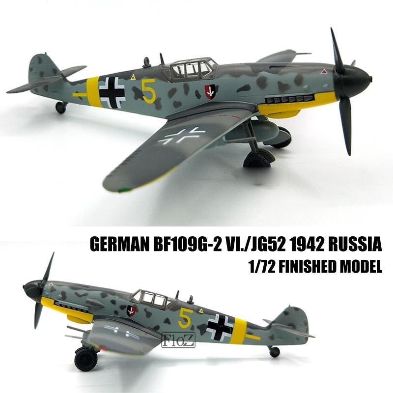 WWII German BF109G-2 VI.//JG52 1942 Russia 1//72 Aircraft Plane Easy model