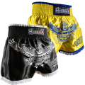 New Arrival Men's MMA Shorts  embroidery Fight Grappling Free fighting Sanda Wrestle  Muay Thai thai Indoor activities