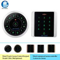 Standalone RFID Access Control Keypad Wiegand 26/34 Proximity 125KHz Card Reader IP65 Waterproof with Touch Metal Keyboard