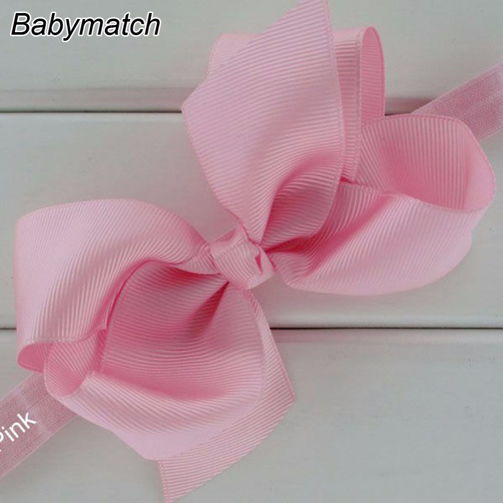 20pcs/lot 6' Big Ribbon Bows With Soft Elastic Headband Baby Girls Infant Headbands Kids Large Hairbands For Hair Free Shipping