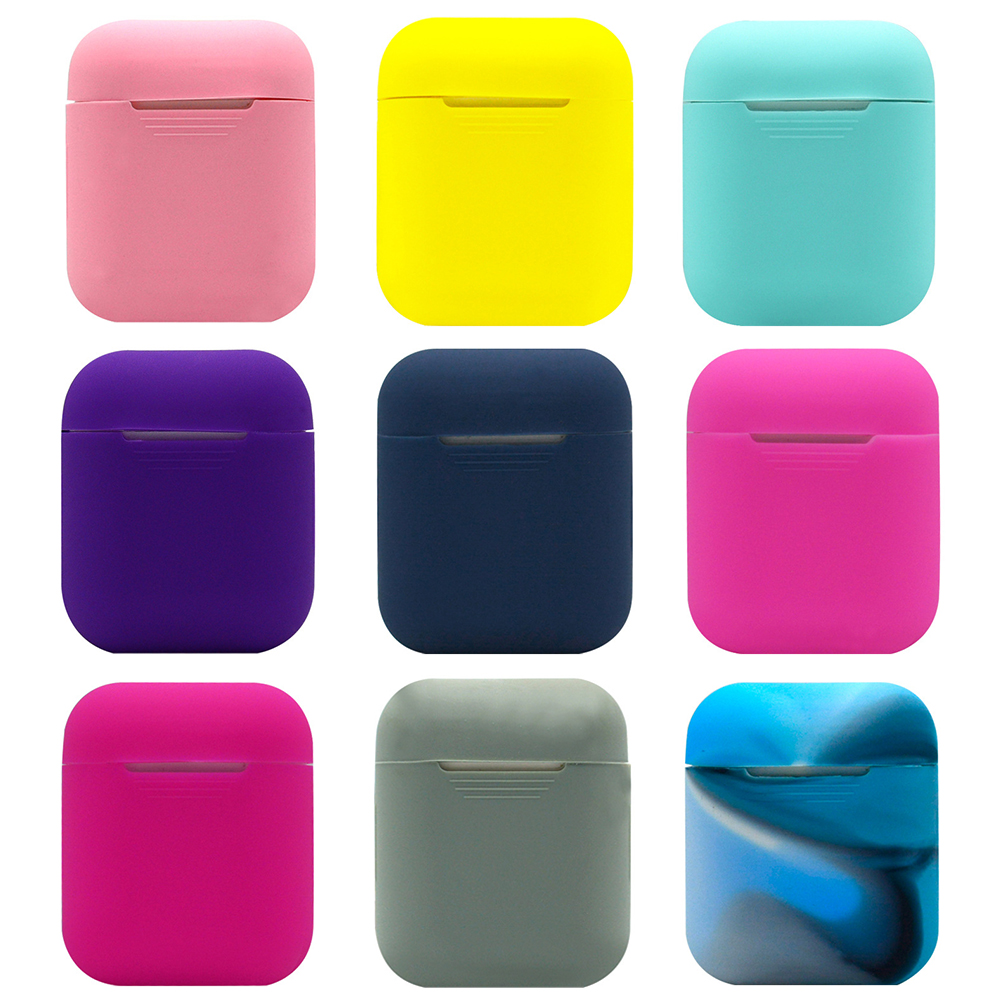 Silicone Carrying Earphone Case for Apple Airpods Air Pods Skin Sleeve Pouch Box Protector Wireless Headphone Protective Cover цена