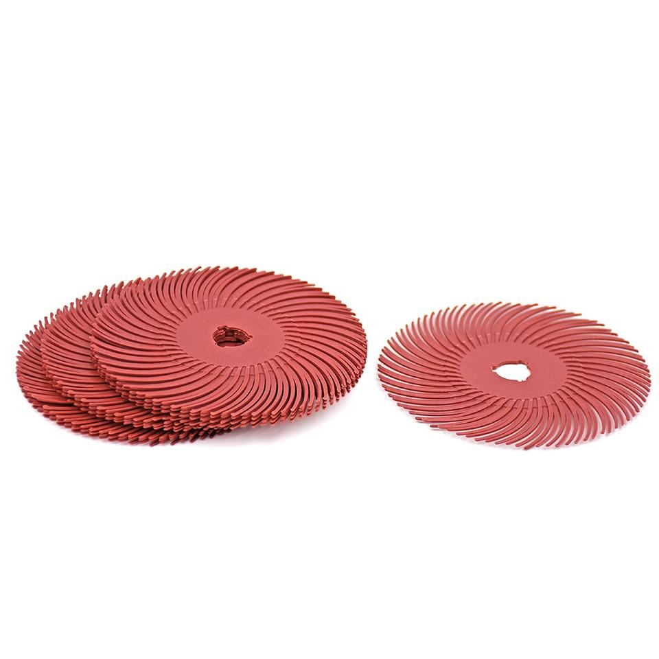 10 pz 3 m dischi radiali a setole di ruote per dischi abrasivi - Utensili abrasivi - Fotografia 5