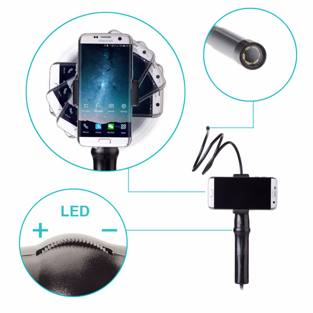 Handheld Endoscope Inspection Camera for Samsung Galaxy S7/S7 Edge S6 S5 Note 6 5 4 with 80cm Fexible Tube