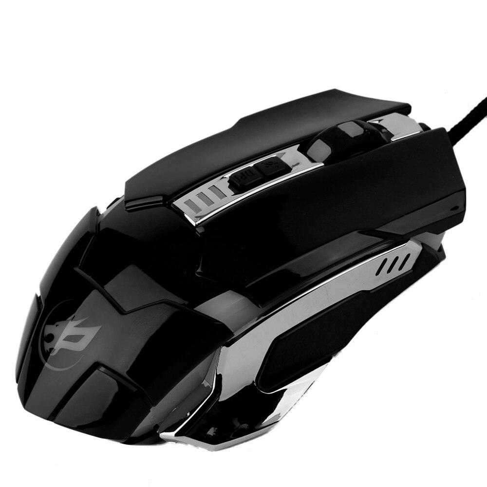 Warwolf 2400 Dpi Filaire Gaming Mouse 6 Boutons Optique Macro Q8 Nombre De Number Of Rollers 1 Tracking Method Optical Resolution 2400dpi Type D Unit Pice Poids Du Colis 018kg 040lb