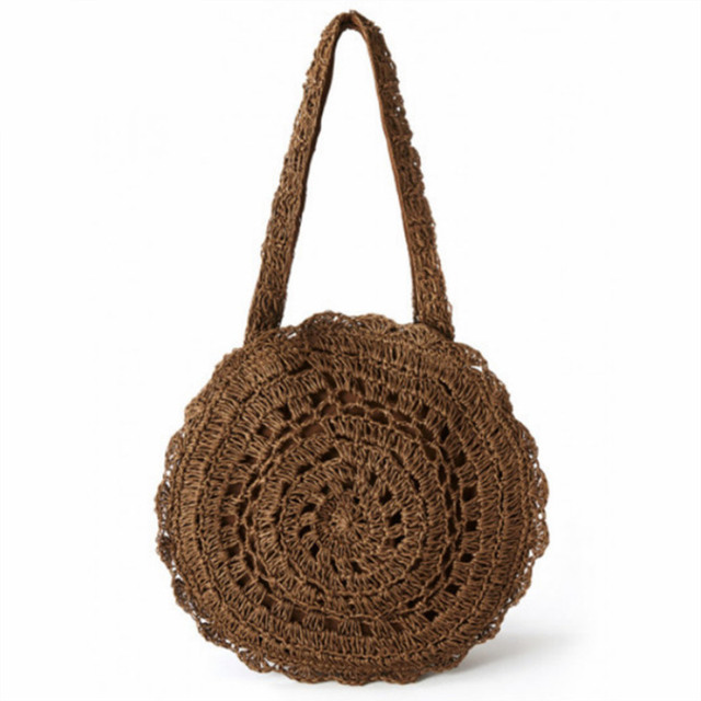 Summer Rattan Handmade Knitted Travel Shoulder Bags 1