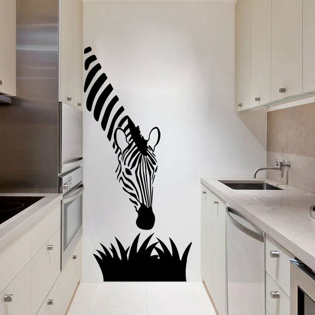 Beau BUCKOO Zebra Wall Stickers Modern Art Decoration For Your Kitchen Bedroom  Or Livingroom , Zebra Wall