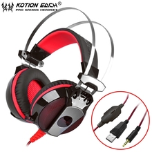 EACH GS500 Stereo Bass Gaming Headset with Mic Light Noise Isolation Headband Headphone for Computer Laptop Gamer Mobile Phone