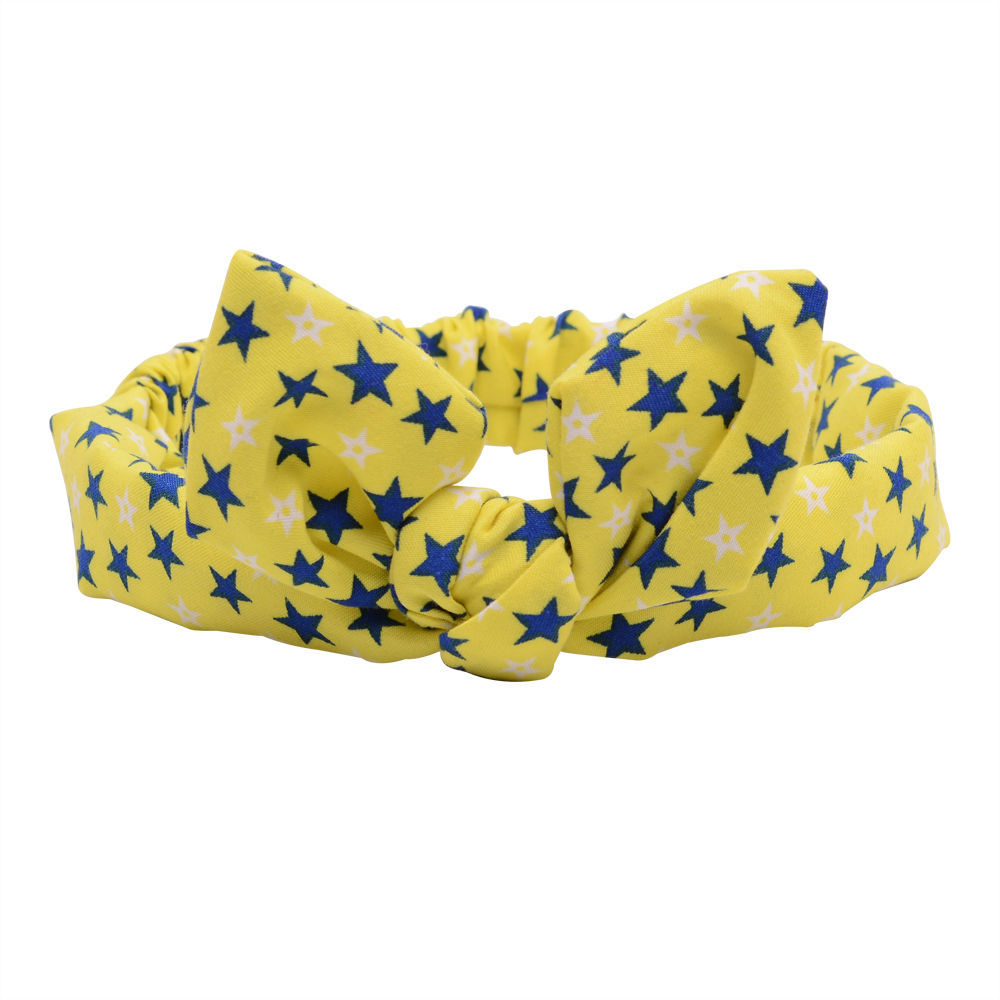 2017 Real Baby Girls Cotton Headbands Dot Retail New Year Korea Hair Band Belt Printing Rabbit Ears Children Accessories