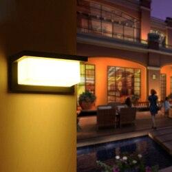 10 w 220 v nowoczesne lampy ogrodowe LED lampy ścienne wodoodporna balkon wodoodporna ganek na zewnątrz światła darmowa wysyłka