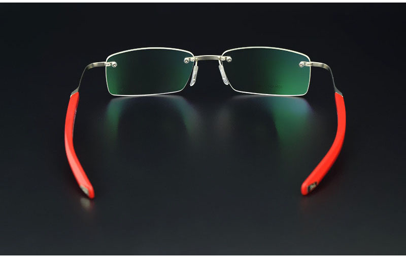 0a8781df15 2017 frameless eye glasses frames for men elastic mirror legs ...