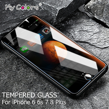 My Colors 0.26mm 2.5D Tempered Glass For iPhone 6 glass 6s 7 8 Plus iphone 7 glass HD iPhone 6 Screen Protector Film 9H Hardness
