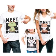 Family Look Matching Outfits Short Sleeve T Shirt Cotton Tees Frog Rabbit Fox Printing Mother And Daughter Father Son Clothes коробка подарочная перо павлина 17 17 10см картон