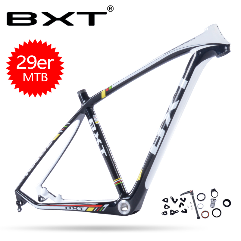 BXT 2018 Full carbon mountain bike 29er frame 3K weave bicicletas mountain bike 29 bicycles carbon mtb frame 135*9mm and 142*12m