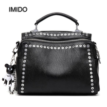 dc221797ee73 IMIDO Brand Fashion Female Shoulder Bag Washed Leather Women Handbag  Messenger Bag Motorcycle Crossbody Bags Two