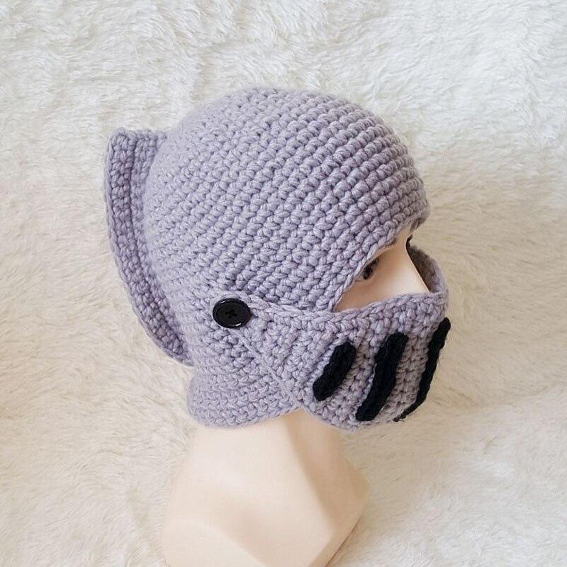 Crochet Mens Knight Helmet Hat Scales4u