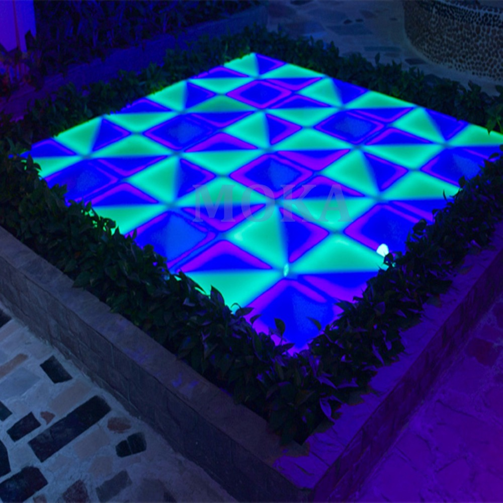 32pcs/lot specialist LED effect Wedding Dance Floor 1meters flashing RGB led dancefloors DMX RGB Led Dance Floor