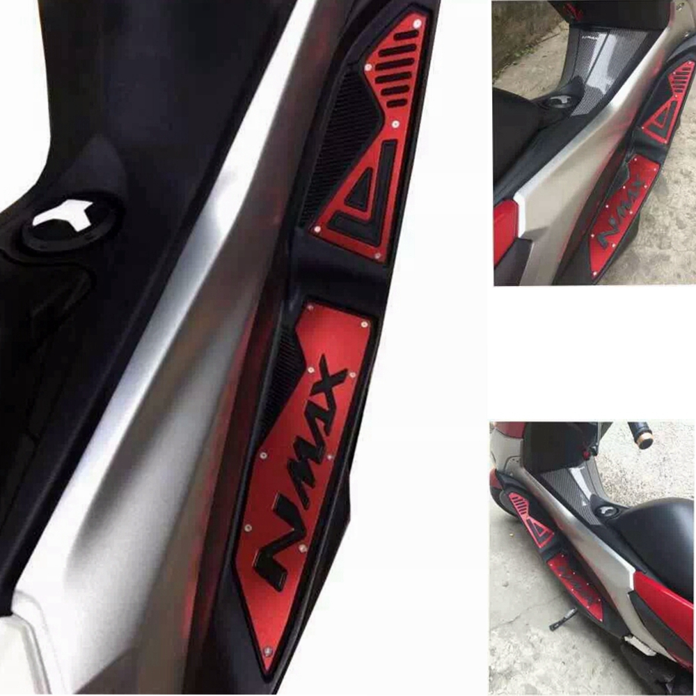 Modified Motorcycle <font><b>cnc</b></font> aluminum nmax footrest foot board footboard steps foot plate for yamaha nmax155 nmax 2016 2017 <font><b>2018</b></font> 2019 image