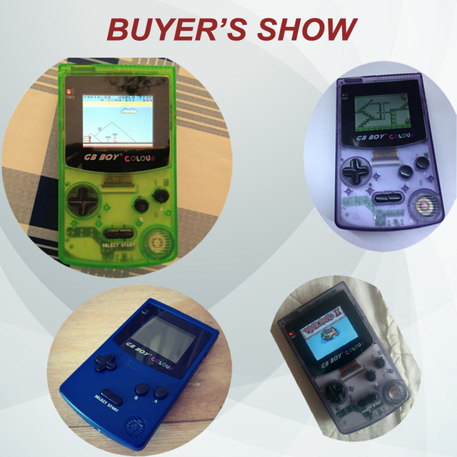 GB Boy Color Colour Handheld Game Consoles Game Player with Backlit 66 Built-in Games 5 Colors GB Boy Hand Held Games