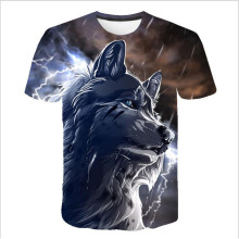 2019 Newest Wolf 3D Print T-Shirt Animal Cool Funny T Shirt Men Short Sleeve Summer Tops Tshirt Male Fashion T-shirt 5XL