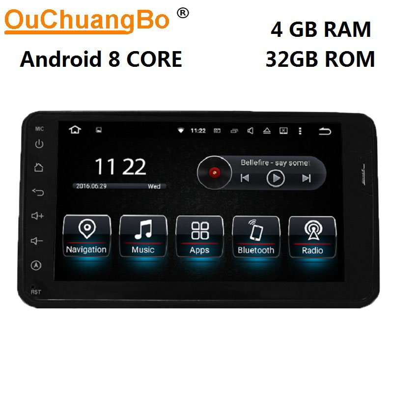 Ouchuangbo PX5 car audio gps radio for Suzuki Jimny 2006-2013 support BT USB mirror link android 8.0 OS 4GB RAM 32GB ROM