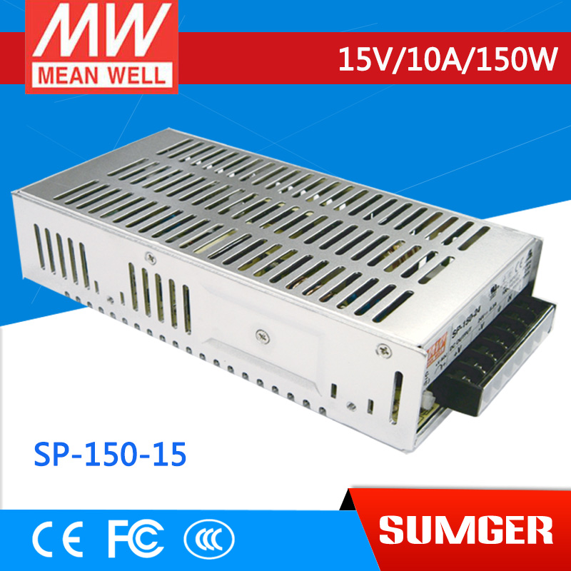 [CB]MEAN WELL original SP-150-15 3Pcs 15V 10A meanwell SP-150 15V 150W Single Output with PFC Function Power Supply [mean well1] original epp 150 15 15v 6 7a meanwell epp 150 15v 100 5w single output with pfc function