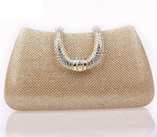 New Exquisite Crystal Women font b Clutch b font Bags Woman Purse and Handbags U Type