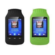 """Mini clipe hott 1037 mp3 player 8gb, suporte pedômetro esportivo bluetooth rádio fm slot para cartão tf 1.8 """"lcd tela de som estéreo tocador de música"""