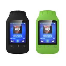 """Mini pince HOTT 1037 lecteur MP3 8GB Support Sport podomètre Bluetooth FM Radio TF fente pour carte 1.8 """"écran LCD lecteur de musique stéréo"""