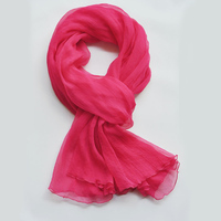 FREE SHIPPING Rose red fold long 100% silk scarves red scarf silk scarves shawls IN STOCK