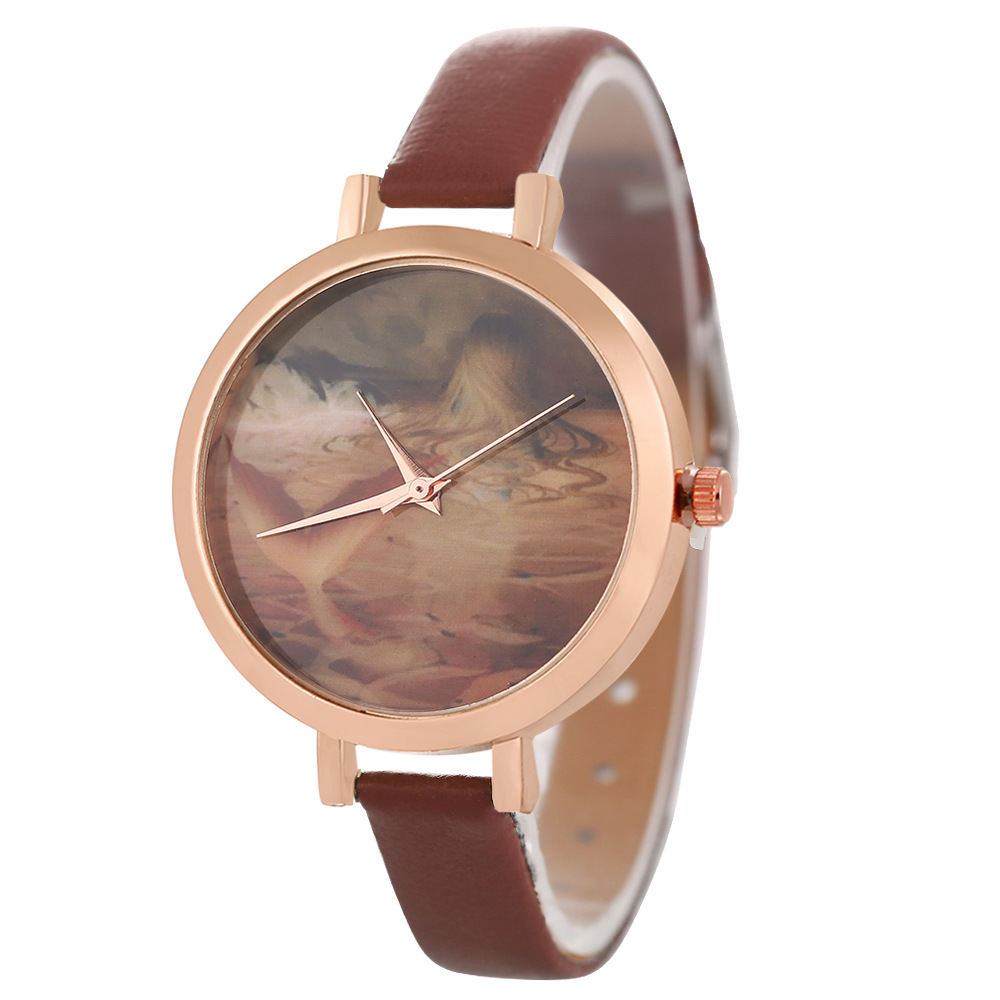 Cross Border Special For Korean Brand Ladies Watch Strap Quartz Watch Mermaid Wholesale Custom Made Explosive Watch Strap PU