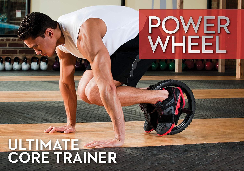 Rueda de potencia ruedas de entrenamiento de núcleo definitivo rueda Abdominal Ab rodillo para gimnasio ejercicio equipo de Fitness - 2