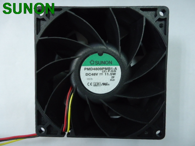 все цены на SUNON PMD4809PMB1-A 12038 120mm 12cm dual ball bearing fan 3 wire FOO signal 48V 11.5W онлайн