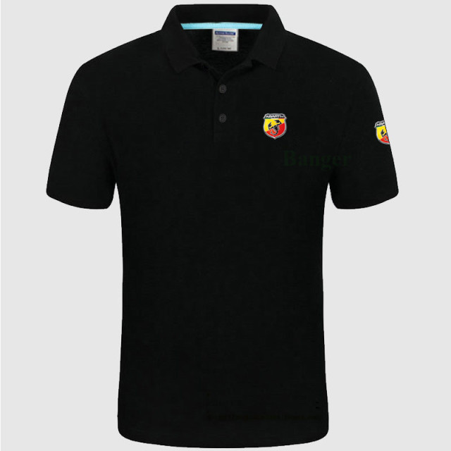 New Men's Polo Shirt abarth logo Women Cotton Short Sleeve shirt clothesPlus Size XXXL