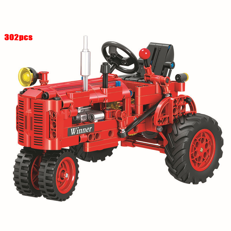 302pcs Diy Technic Classical Old Tractor Building Blocks Legoings Educational Bricks Toys For Children Funny Kids Gifts DBP378 in Blocks from Toys Hobbies