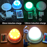6PCS DHL Free Shipping Super Bright RGB 16 colors change Wireless Rechargeable Lithium waterproof LED tube modules