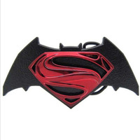 Color Zinc Alloy Batman Superman Belt Buckle Europe And The United States Selling FP 03639 Large