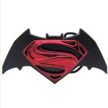 3080d61de257 Batman superman ceinture boucle MARVEL The Avengers rouge noir De Mode Mens  Texas Western Turbo Nos Tunning approprié pour 4 cm .