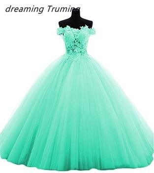 5c2bc40c0 Multi color vestidos de quinceañera 2019 con apliques de encaje de tul  vestidos de 15 años