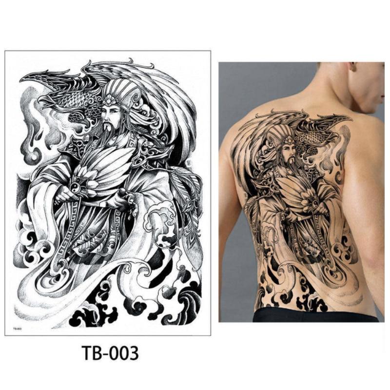 Us 339 20 Offnowy 4834 Cm Pełnym Powrotem Tatuaż Nieśmiertelny łubinu Zhuge Budda Wzory Wodoodporna Tymczasowa Naklejka Tatuaż Fajne Mężczyźni