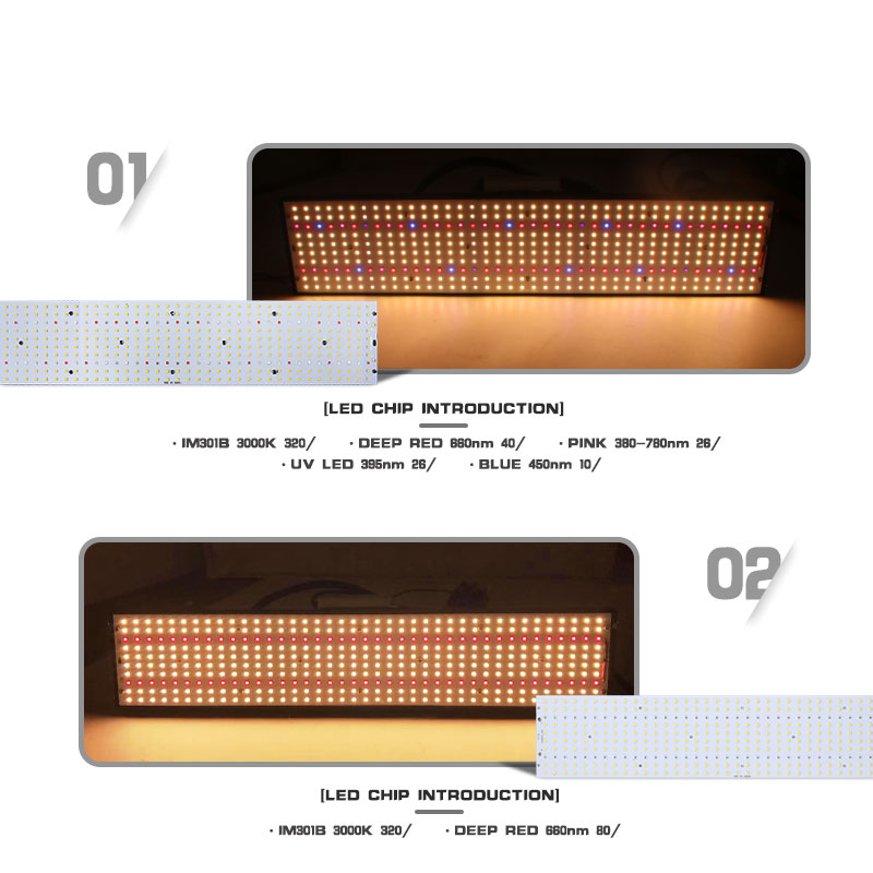 Samsung 240w led 400pcs PCBA quantum board QB288 490x95x1 6mm PCB with LM301B 660nm LM561C S6