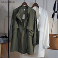 Mlanxeue Women Cardigans Spring Loose Windbreaker Fashion Thin Jacket Outwear Coat Korean Solid Woman Windbreaker